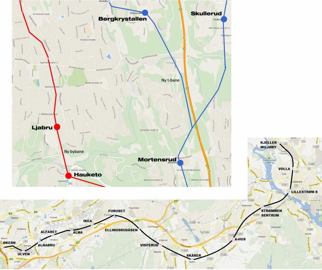 T-banen østover bør forlenges.