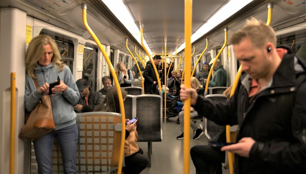 Antallet kollektivreisende har økt med ni prosent på en uke, og er på 54 prosent.
