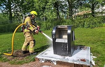 Brannvesenet rykket ut til Frognerparken: - Ikke kast engangsgriller i søppeldunken