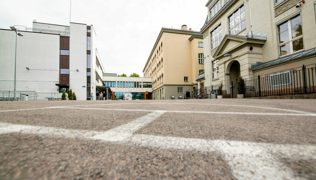 Med et av byens minste skolegårder er det godt for elevene å få bruke Sofienbergparken som et friområde.