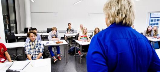 Skoleklasser i Oslo kan samles fra torsdag neste uke