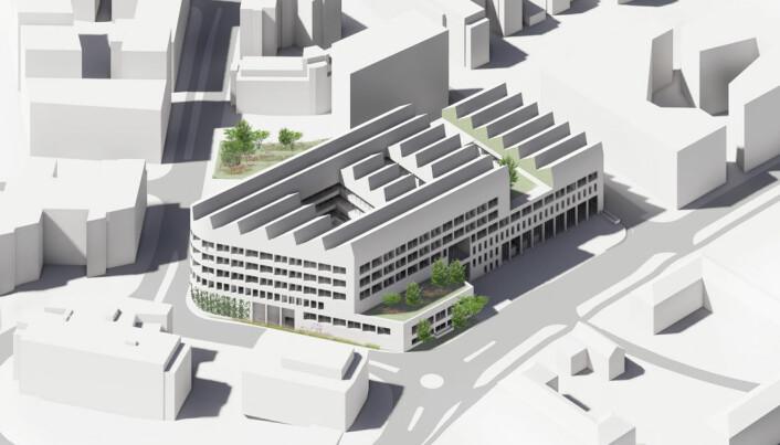 Illustrasjon av den nye hovedbrannstasjonen på Bryn.
