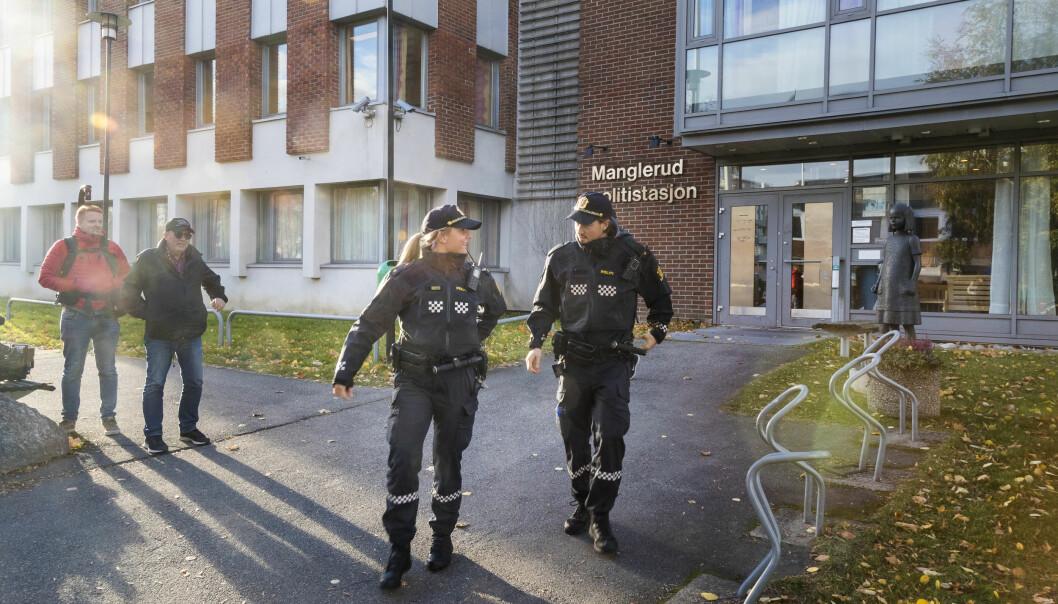 Manglerud politistasjon (bildet) kan bli slått sammen med Stovner politistasjon når leiekontrakten går ut i 2023.