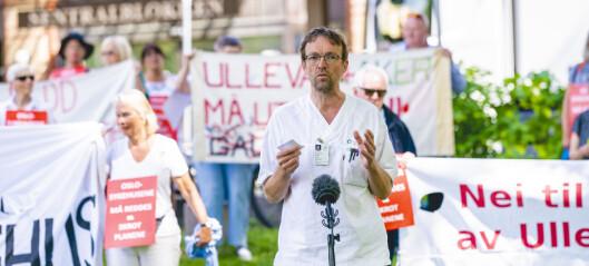 Demonstrasjoner på fire sykehus i Oslo