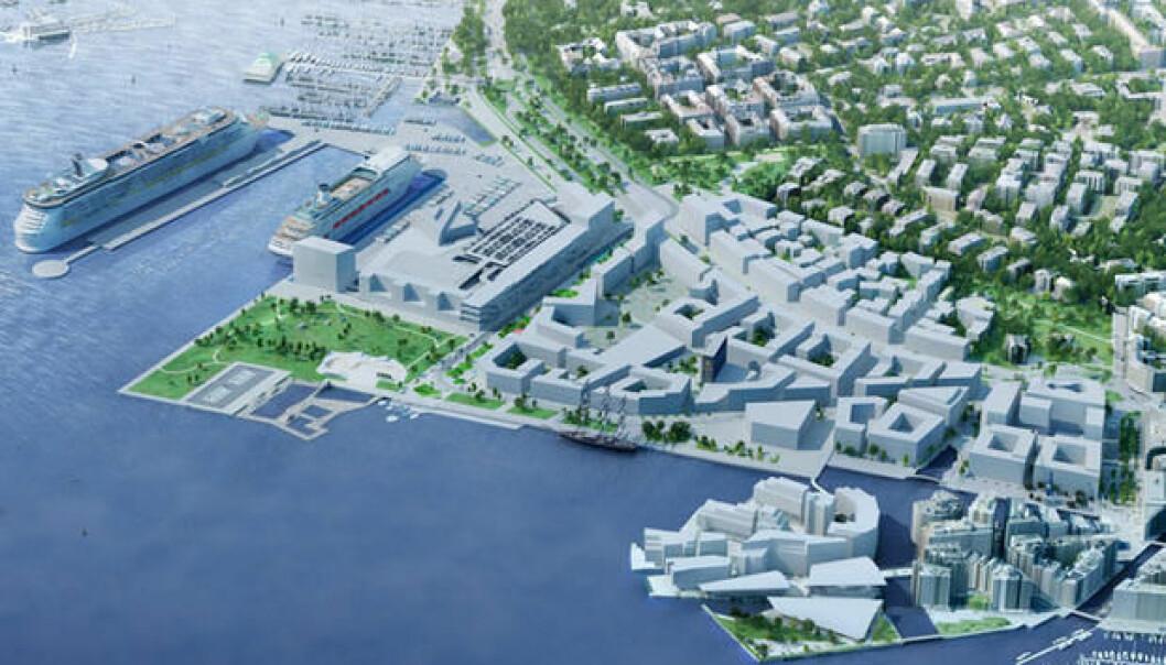 """I dagens pressemelding lover Venstre og der tre byrådspartiene """"rimelige boliger"""" når hele området er bygget ut."""