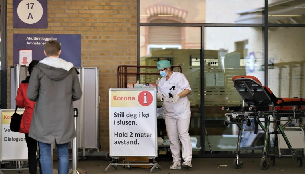 Testing og smittesporing ved et eventuelt nytt koronautbrudd i Oslo kan komme til å koste hele 1,6 milliarder kroner, viser en ny beregning. Her fra koronamottaket på Ullevål sykehus.