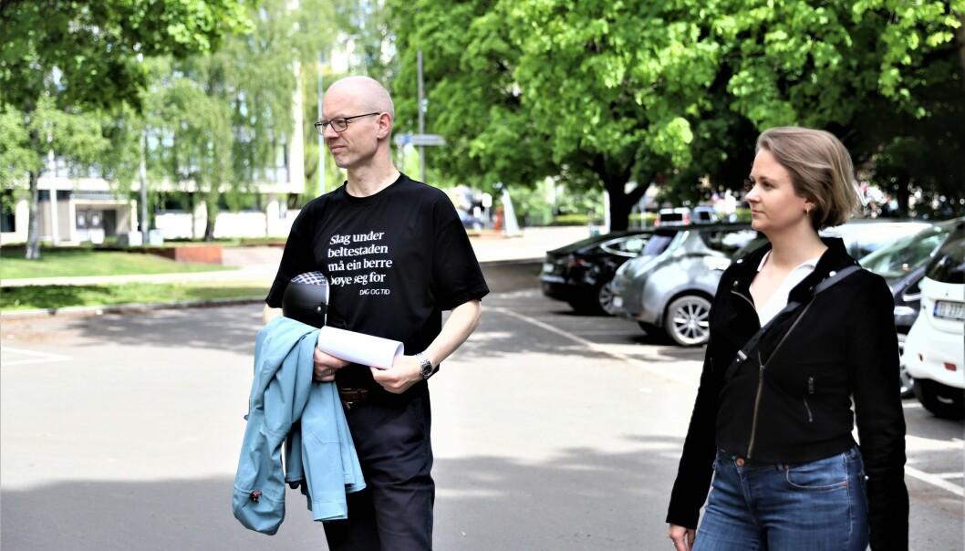 Tore Wilken Nitter Walaker og Julianne Ferskaug utfordrer byrådet til raskt å gå inn for en aktivitetspark.