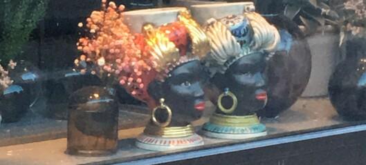 – Jeg er sjokkert over å se to blackamoors utstilt i en blomsterbutikk på Bislett