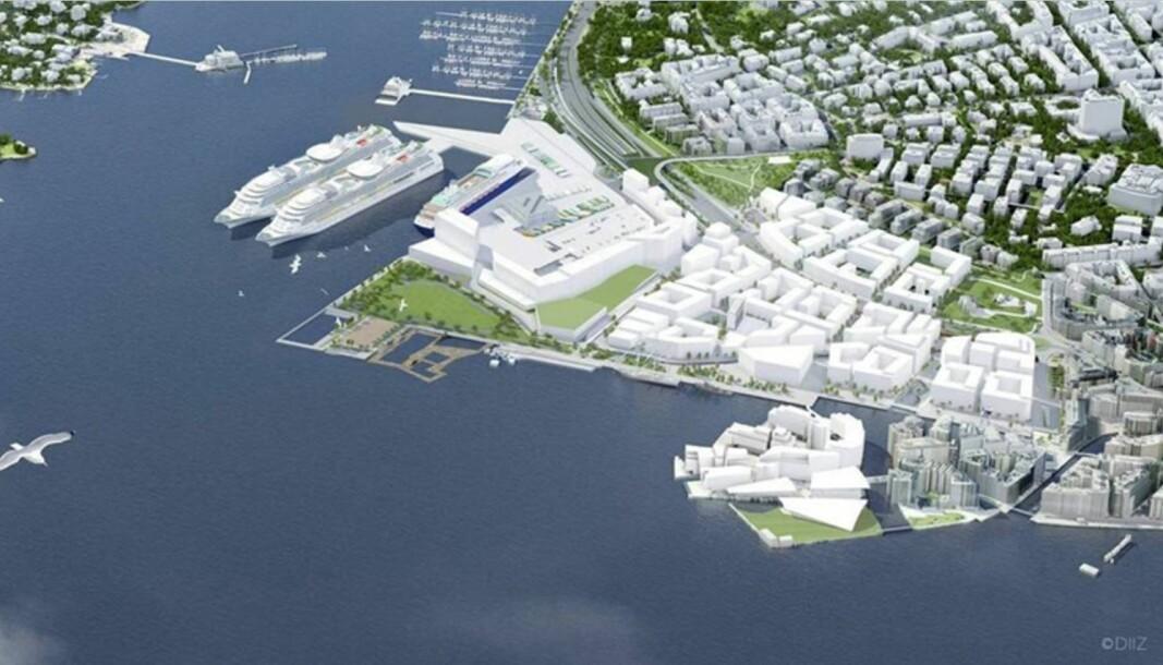 Fjordbyparken på Filipstad, slik plan- og bygningsetaten ser den for seg.