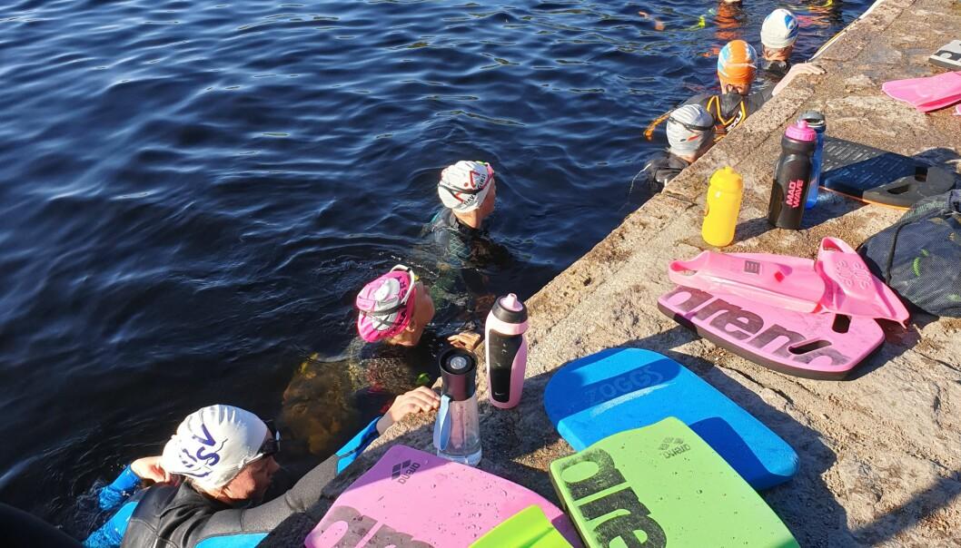 Svømmerne i SK Speed har ikke noe eget basseng og trener nå i Steinbruvann i Lillomarka.