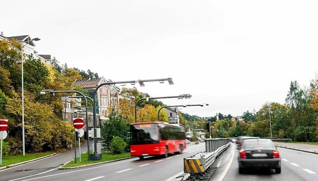 Personbiltrafikken harv ært kraftig redusert i koronaperioden. Nå er den på full fart opp igjen. Her i Mosseveien.