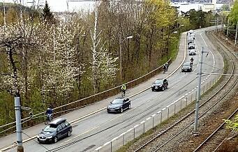 Kongsveien stenges for gjennomfartstrafikk i rushtiden