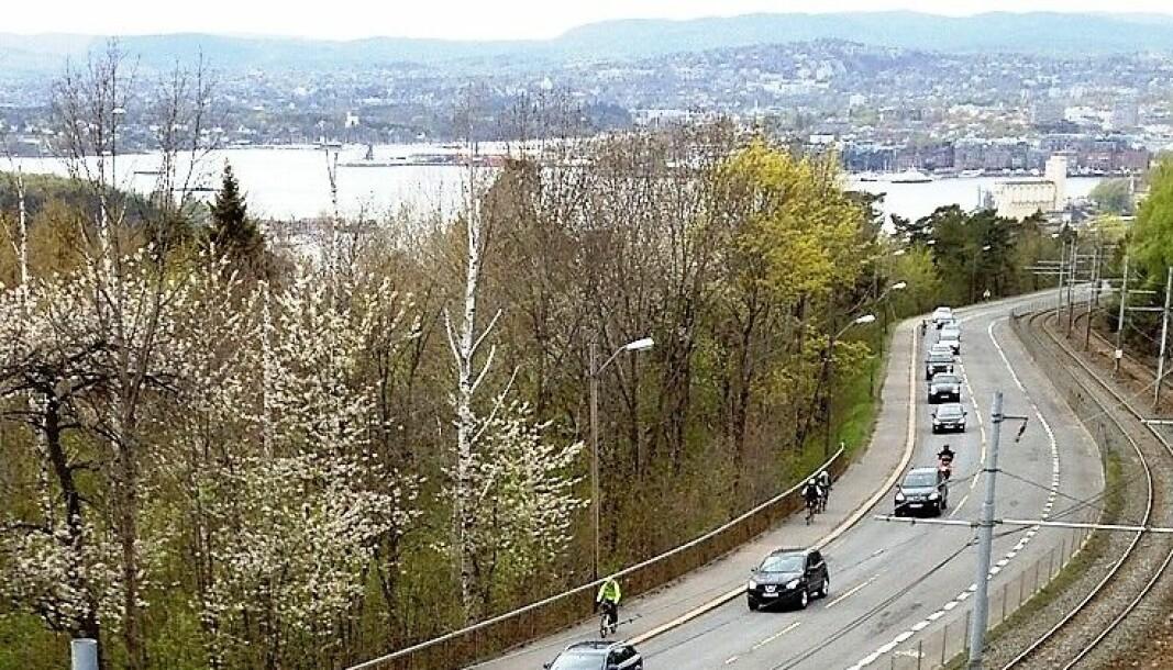Kongsveien prioriteres for syklister i rushtiden fremover.