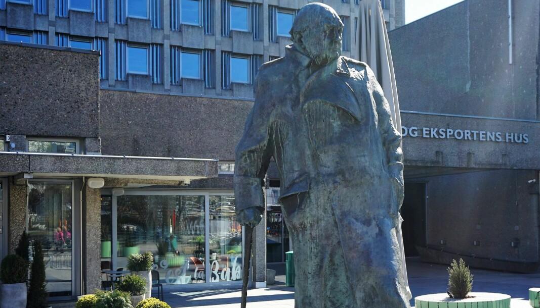 Eg vil rope eit høgt og tydeleg NEI til å sette den «the old Lion» Churchill framfor Stortinget, sier Sigrid Heiberg.