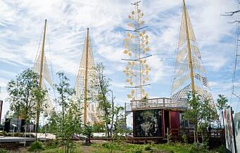 Brødrene Vebjørn og Eimund Sand har åpnet Roseslottet ved Frognerseteren stasjon