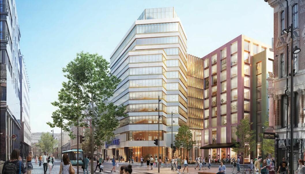 Slik ser det siste planforslaget for Gunerius ut. Men fortsatt er plan- og bygningsetaten uenig med utbygger Olav Thon om enkelte detaljer i kvartalet.