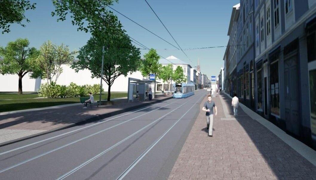 En kollektivgate, kaller Sporveien og bymiljøetaten Thorvald Meyers gate. Iløpet av året står mesteparten av den delvis fredede gaten frem i ny prakt.