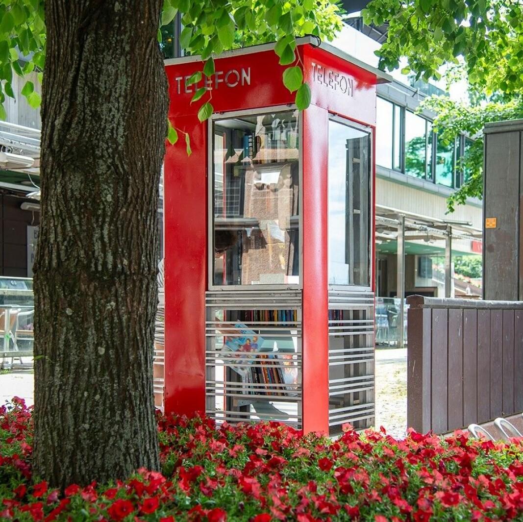 I Rosenkrantzgate, i nærheten av Rådhuset. står det nå en rød lesekiosk.