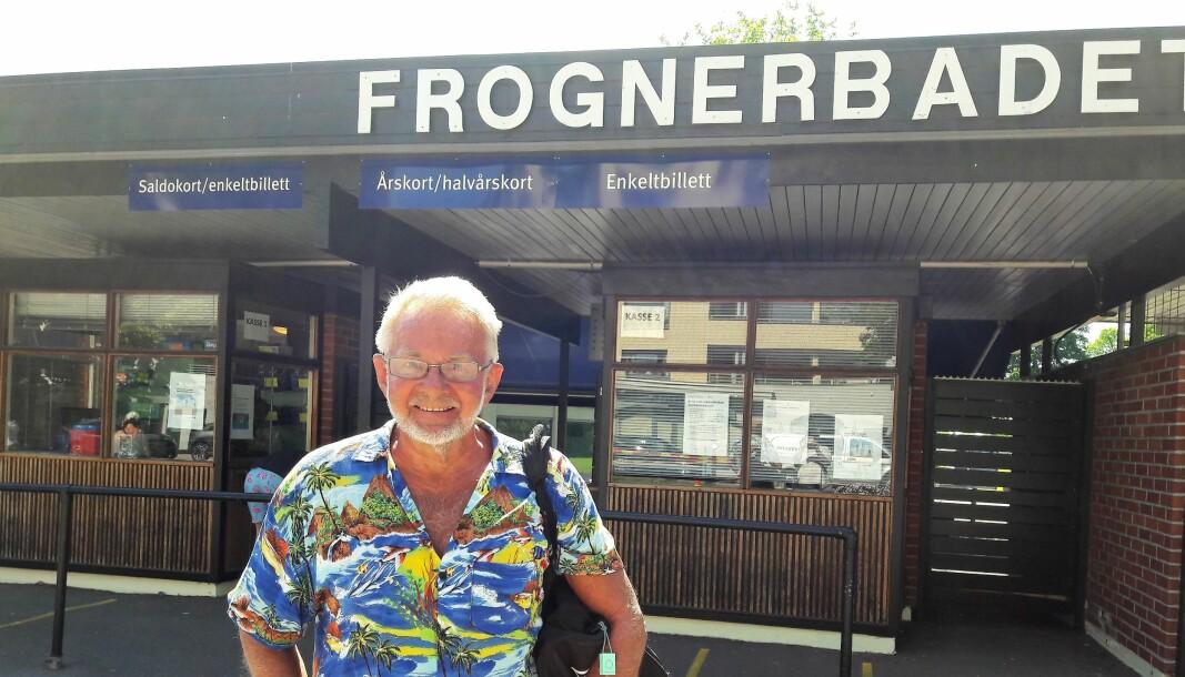 — Frognerbadet er det beste med hele Oslo, sier Eilif Dahl.