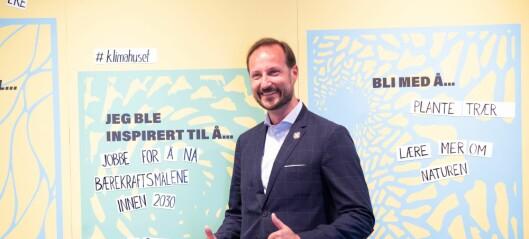 Kronprins Haakon var æresgjest da Klimahuset på Tøyen åpnet etter koronaforsinkelse