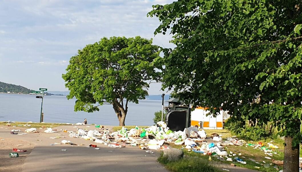 Slike søppelscener er ikke gøye å møte når du går tur langs stranda.