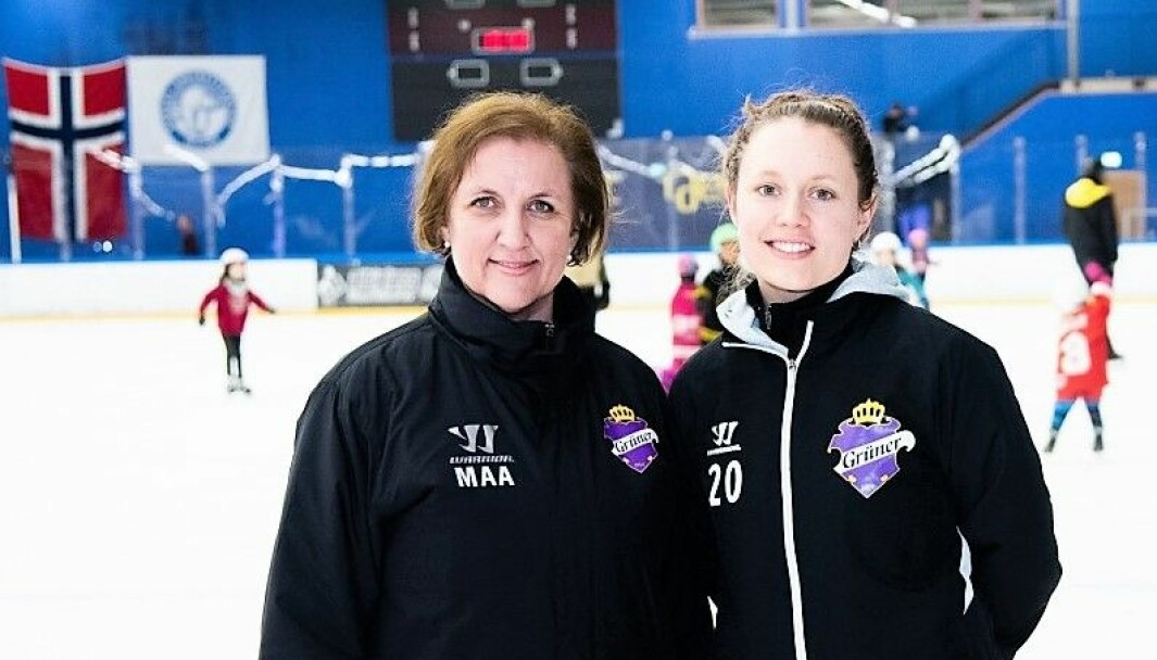 Leder for damehockeyen i Grüner, Margaret Aaram, og A-lagsspiller Bente Volden ønsker seg flere spillere før årets sesong.