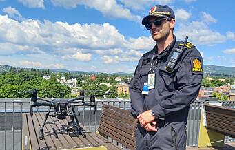 Flere hundre meter oppe i luften følger oslopolitiets droner med på hva som skjer i byen vår