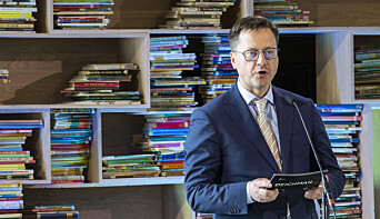 Hovedbiblioteket Deichman Bjørvika åpner. Direktør og biblioteksjef Knut Skansen  med tale under åpningen.