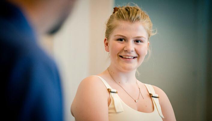Hedvig Tpones Hauge (17) gleder seg til å jobbe med barn.
