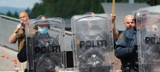 Støyinferno druknet SIAN-demonstrasjon på Mortensrud