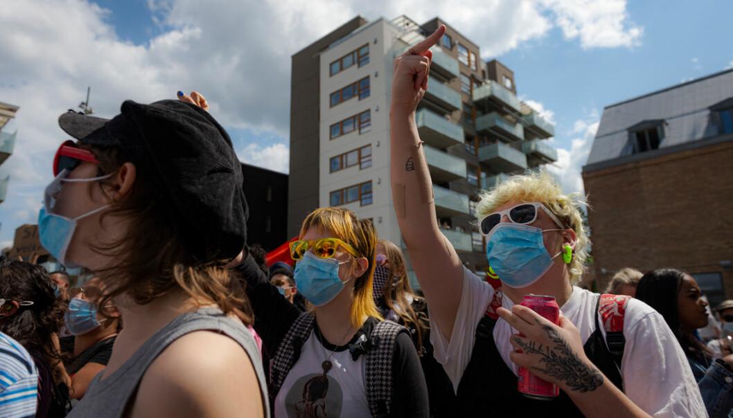 Ingen rasister i våre gater, var budskapet fra demonstrantene.