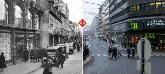 Fotograf Morten Larød viser hvordan Oslo så ut før og nå