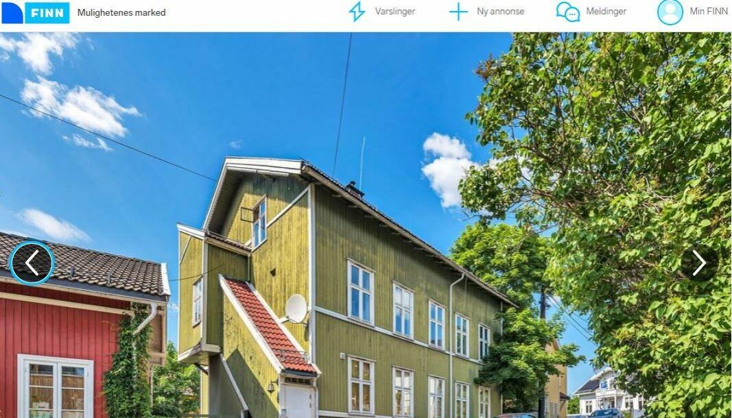 Sjelden anledning, skriver selgeren på vegne av Boligbygg, om Tromsøgata 8.