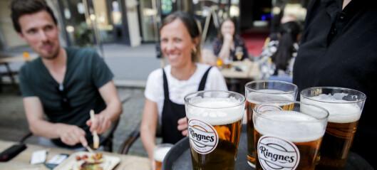 Folk strømmet til Oslos spisesteder i finværet