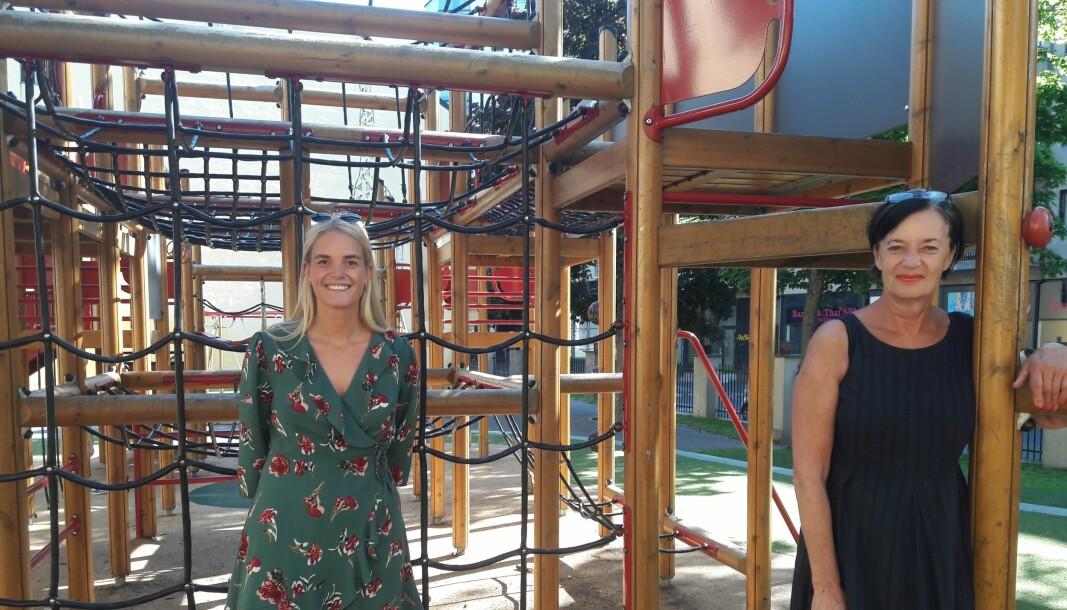 Bydelsutvalgets Nina Zimmer, SV (til venstre) reagerte kjapt og fikk partikollega Trine Dønhaug til å ta opp saken under revidert budsjett