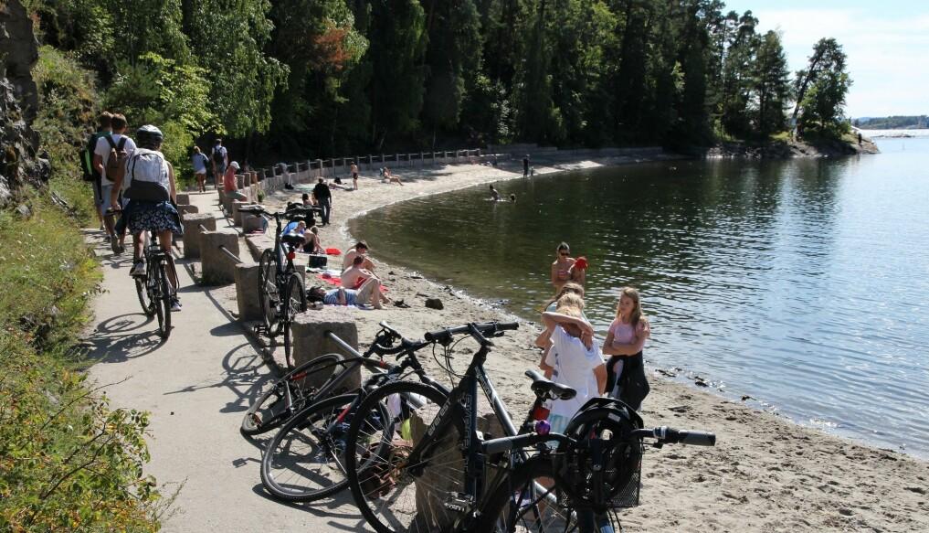 Bygdøy sjøbad er svært populært for barnefamilier.