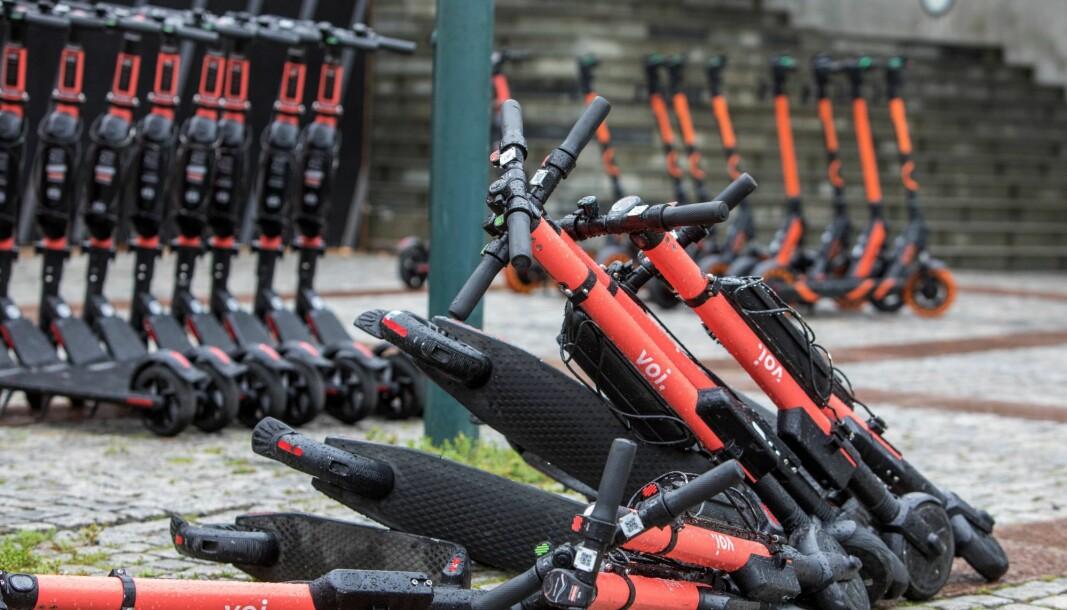 Det befinner seg inntil 9.000 elsparkesykler i hovedstaden nå i lavsesongen januar.