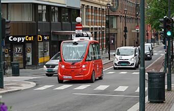 Ruters selvkjørende busser kjører nå mellom Christiania Torv og Vippetangen