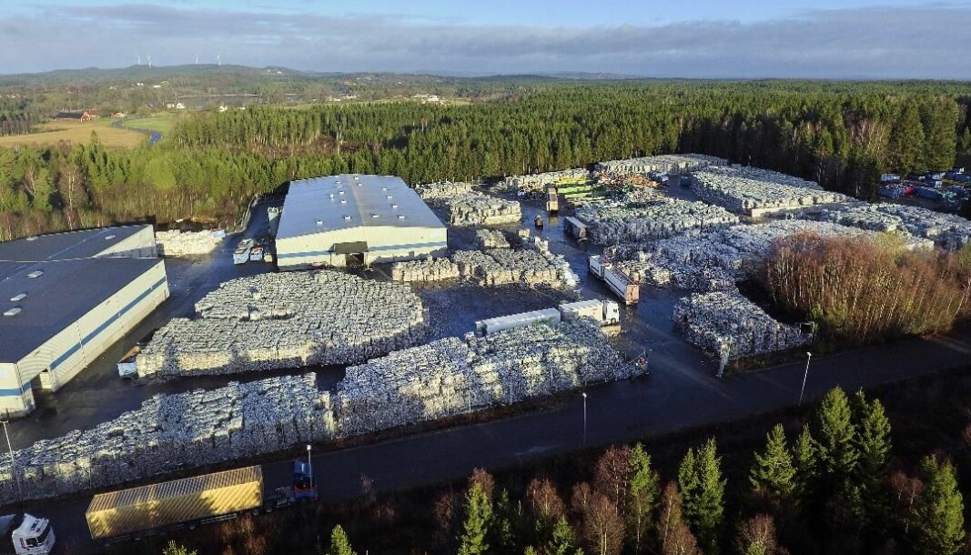 Plasten fra Oslo vil fra 1. august bli sendt hit, til Norsirks anlegg i Småland.