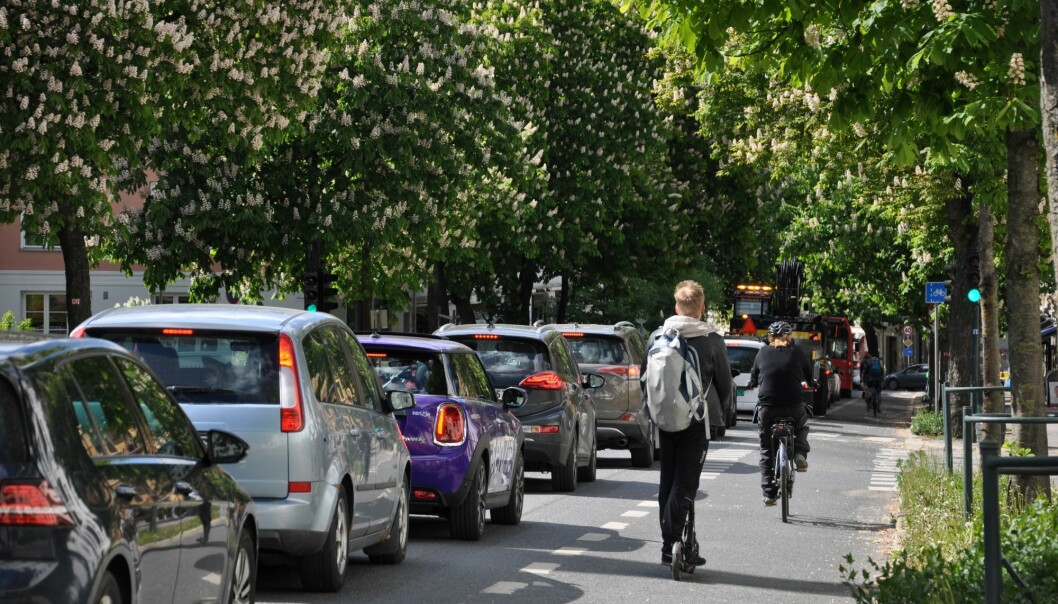 Bygdøy allé har fått sykkelfelt etter at kollektivfeltet ble fjernet. Nå stenges gaten også for gjennomkjøring i rushtiden.