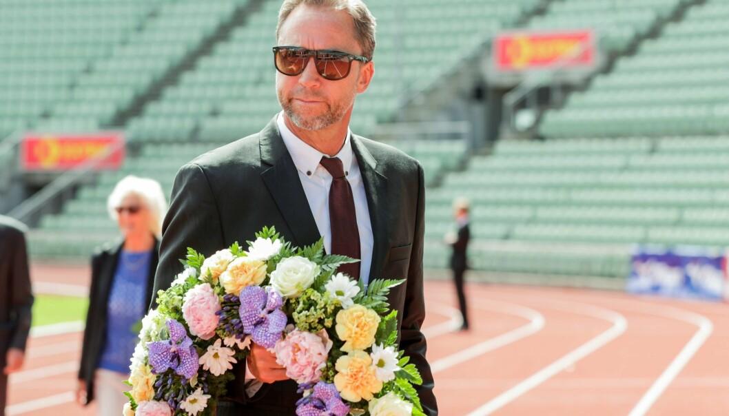 Steinar Hoen, stevnedirektør for Bislett Games, deltok i minnestund for tidligere Bislett-general og friidrettspresident Svein Arne Hansen på Bislett stadion.