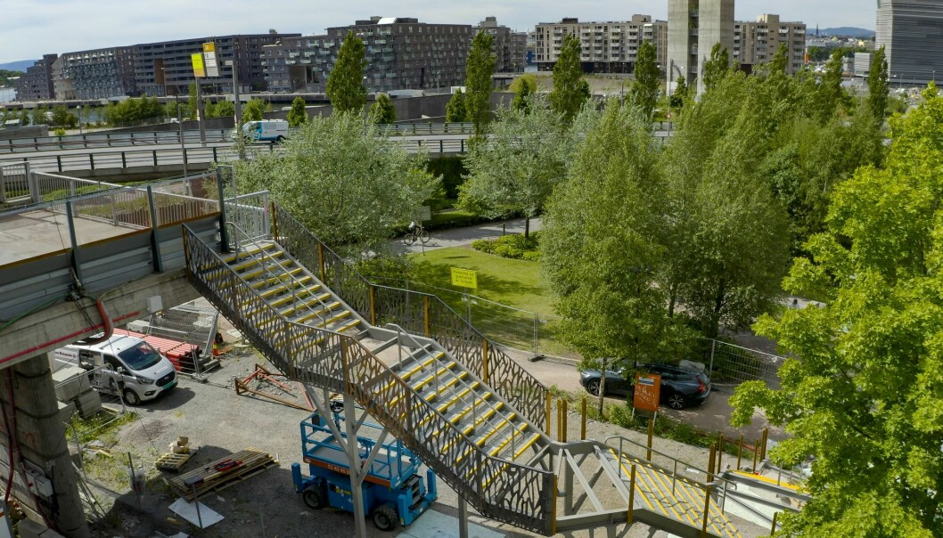Trappen skal lette adkomst mellom Sørenga og Gamlebyen.