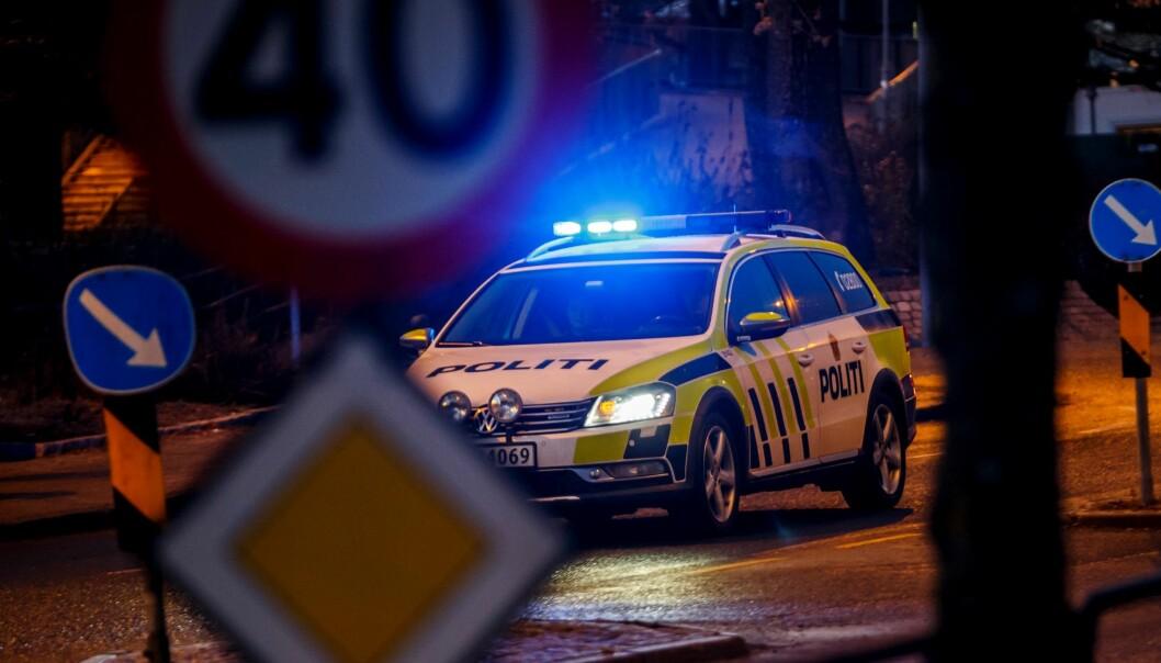 E ble påkjørt av en bil like ved Sannerbrua. Politiet har beslaglagt førerkortet til bilføreren.