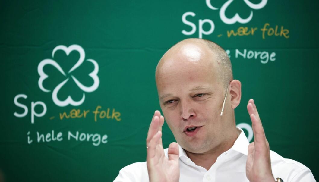 — Arild Hermstad bør nå heller dyrke sykkelen sin fremfor å øke kapasiteten på T-banen, sier Trygve Slagsvold Vedum (Sp).
