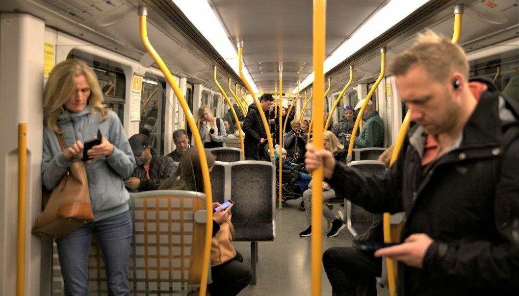 T-banen i Oslo får ikke lov til å kjøre med fulle vogner.
