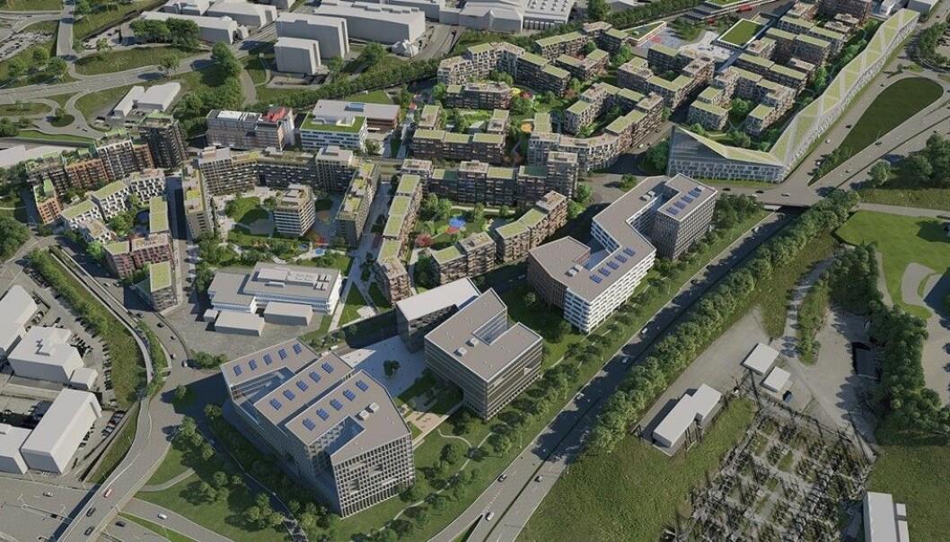Construction city på Ulven slik det ble presentert i 2018.