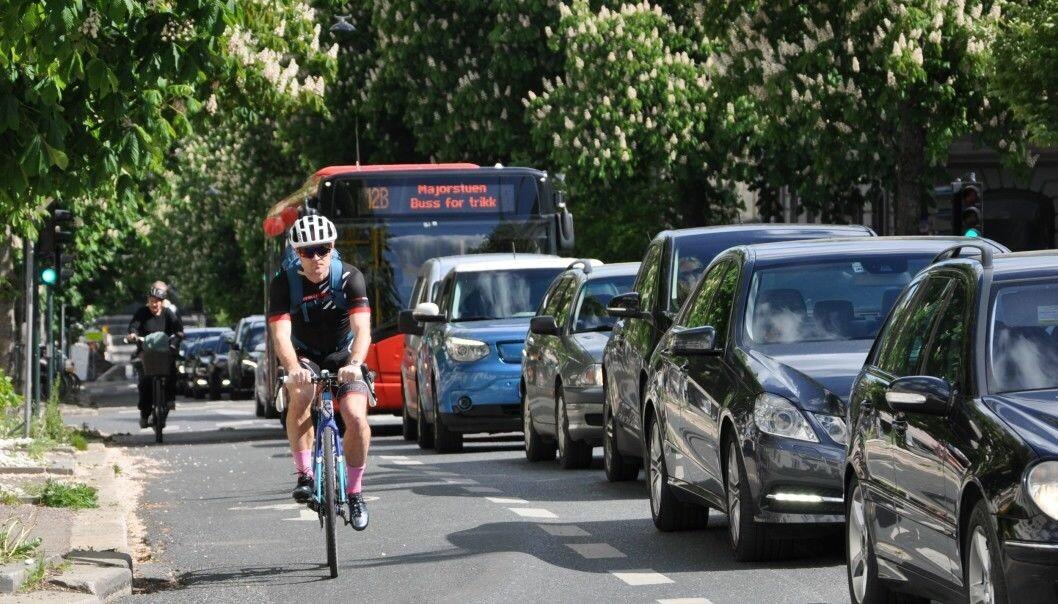 Sykkelfeltene i Bygdøy allé beholdes mens bilene nektes gjennomkjøring i rushtiden fra og med torsdag 9. juli.