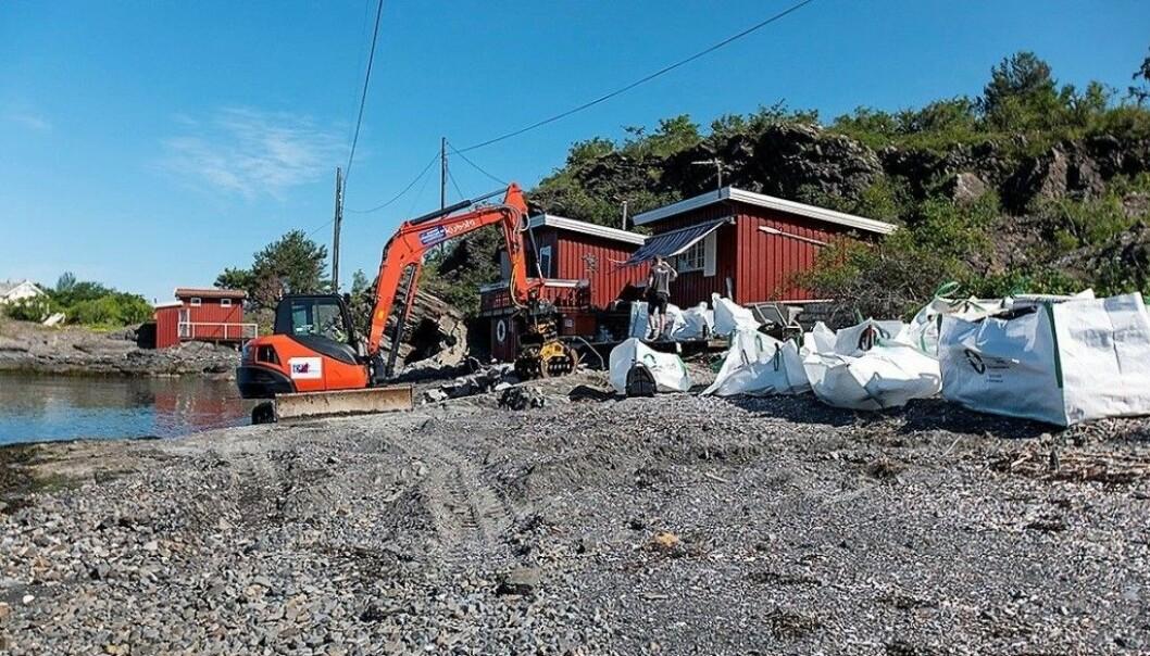 I fjor rev Oslo kommune denne hytta som var ulovlig oppsatt på Rambergholmen.