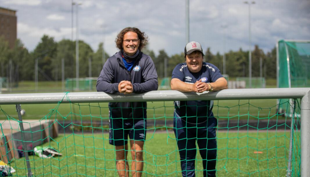 Veteranene Olav Tveiten (t.v.) og John Holter synes det er på tide å få spille kamper igjen.