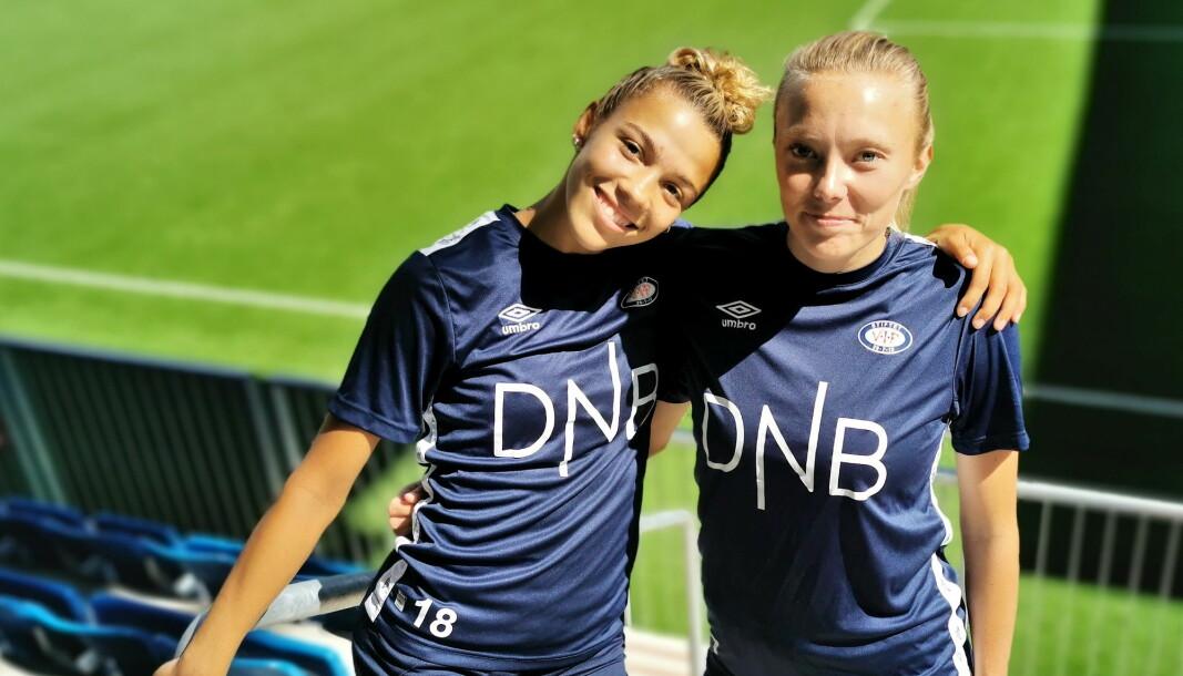 — Vålerenga skal være Oslos beste damelag, mener Celin Bizet Ildushøy (t.v) og Synne Jensen.